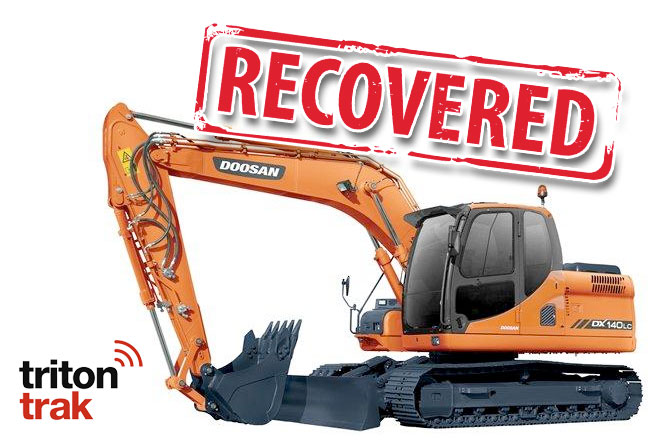 TRACKING COMPANY HELPS RECOVER 14-TON EXCAVATOR