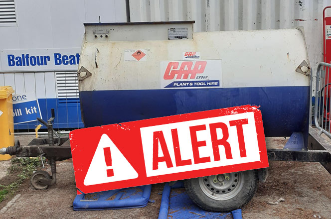 CITS THEFT ALERT - GAP FUEL BOWSER